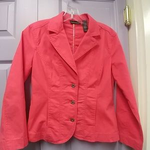 Dkny lightweight jacket in a coral color. Size sma